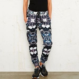 Jaded flower pop urban outfitters joggers sweats